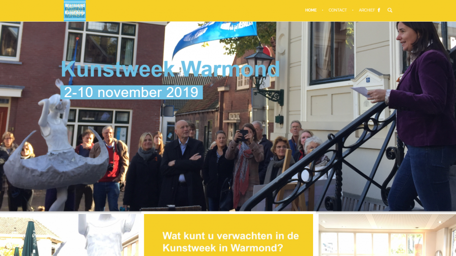 nieuwe website Kunstweek Warmond